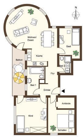 Eigentumswohnung in sanierter Altbauvilla -  Bild 8