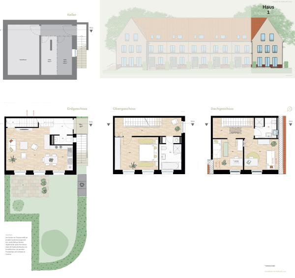 Modern terraced house in a historic ambience with terrace and garden -  Bild 10