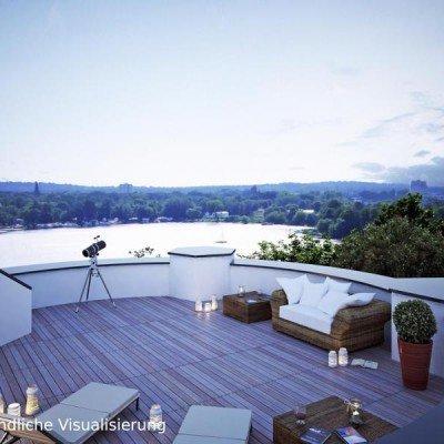 ERSTBEZUG *Sanierte Turmvilla * Exklusives Penthouse mit Dachterrasse * Wasserblick