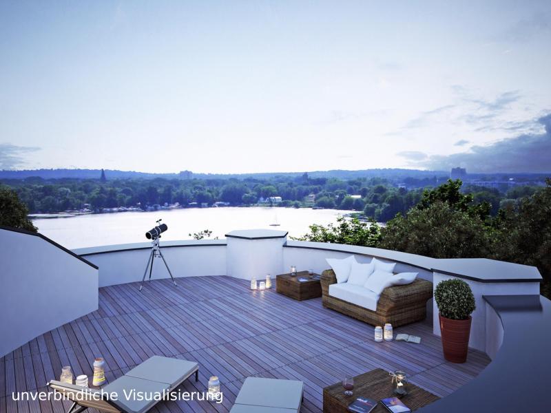 ERSTBEZUG *Sanierte Turmvilla * Exklusives Penthouse mit Dachterrasse * Wasserblick -  Bild 1