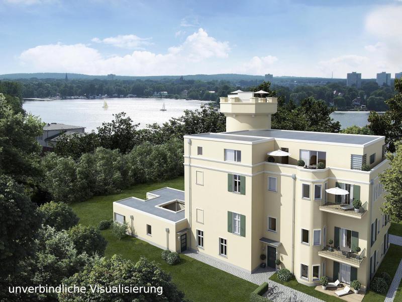 ERSTBEZUG *Sanierte Turmvilla * Exklusives Penthouse mit Dachterrasse * Wasserblick -  Bild 2
