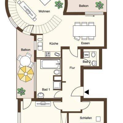 ERSTBEZUG *Sanierte Turmvilla * Exklusives Penthouse mit Dachterrasse * Wasserblick -  Vorschau 8