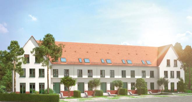 Neun Reihenhäuser in Denkmalschutzgebiet in Königs Wusterhausen